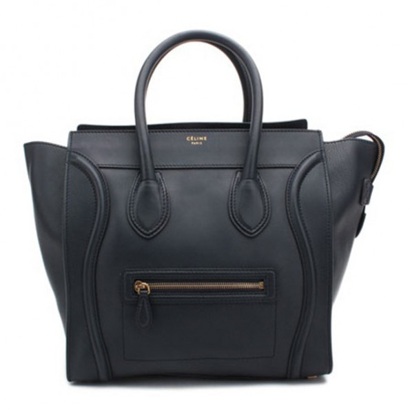Celine Bag Tote Luggage Mini Black Leather 2811f9c8f9