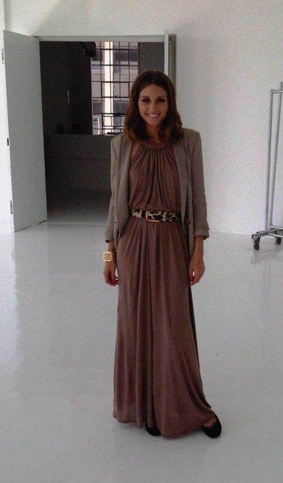 Lange Gebreide Maxi Jurk.Maxi Dress In Het Najaar Cynthia
