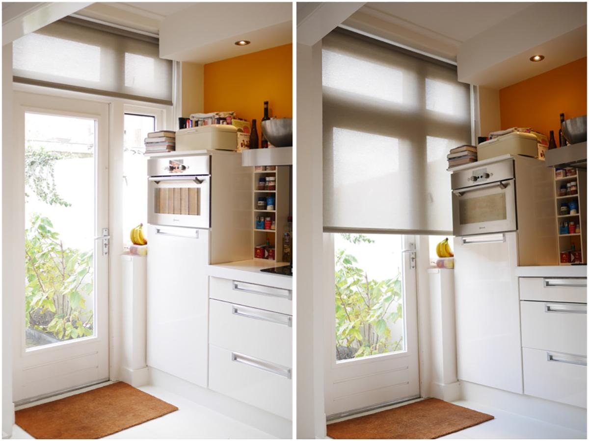 Luxe landelijke keuken gordijnen modern design keukens